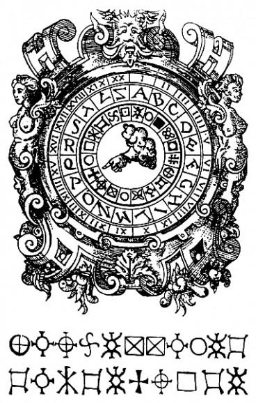 Giovanni Battista Della Porta, Cipher disk, 1563